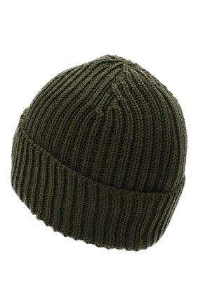Мужская шерстяная шапка C.P. COMPANY хаки цвета, арт. 11CMAC122A-005509A | Фото 2