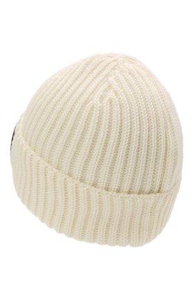 Мужская шерстяная шапка C.P. COMPANY белого цвета, арт. 11CMAC122A-005509A | Фото 2