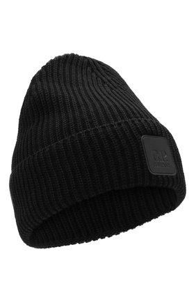 Мужская шерстяная шапка C.P. COMPANY черного цвета, арт. 11CMAC121A-005509A | Фото 1