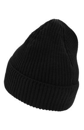 Мужская шерстяная шапка C.P. COMPANY черного цвета, арт. 11CMAC121A-005509A | Фото 2