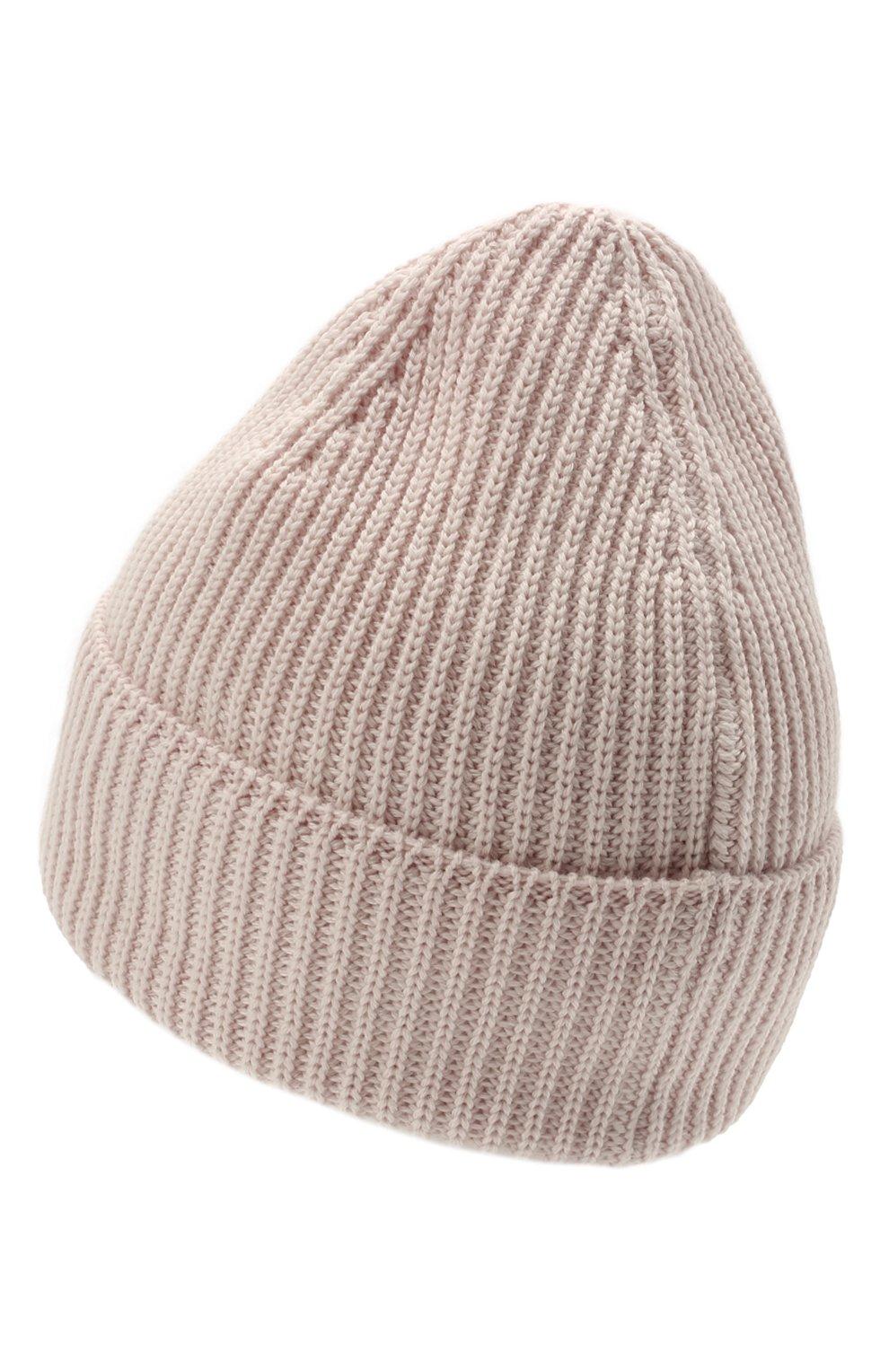 Мужская шерстяная шапка C.P. COMPANY светло-розового цвета, арт. 11CMAC121A-005509A | Фото 2 (Материал: Шерсть; Кросс-КТ: Трикотаж)