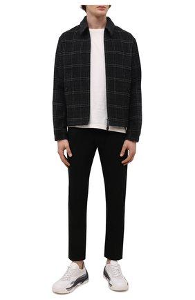 Мужские кожаные кроссовки gumboy VALENTINO серого цвета, арт. WY2S0B17/MQB | Фото 2