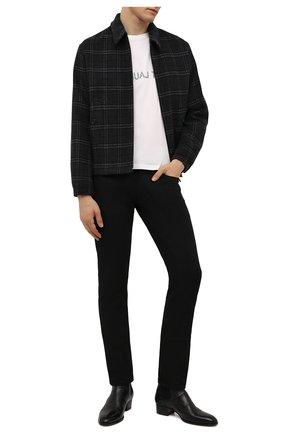 Мужская хлопковая футболка SAINT LAURENT белого цвета, арт. 663278/Y36HE | Фото 2 (Рукава: Короткие; Материал внешний: Хлопок; Длина (для топов): Стандартные; Принт: С принтом; Стили: Кэжуэл)