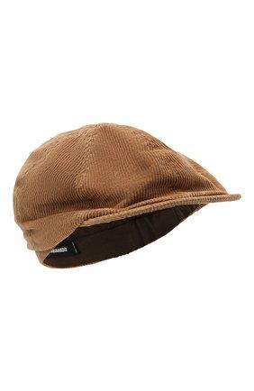 Мужская хлопковое кепи DSQUARED2 светло-коричневого цвета, арт. HAM0035 16202367 | Фото 1