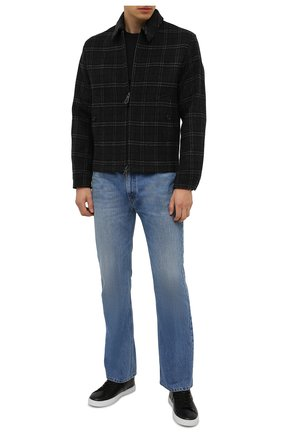 Мужские кожаные кеды TOD'S черного цвета, арт. XXM0XY0DR20NF5 | Фото 2