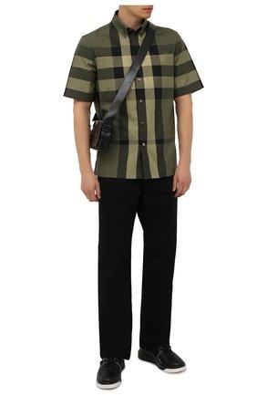 Мужские кожаные кеды one stud VALENTINO черного цвета, арт. WY2S0E71/NWN | Фото 2