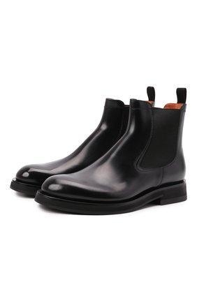 Мужские кожаные челси SANTONI черного цвета, арт. MCCG17819JW2IPWEN01 | Фото 1