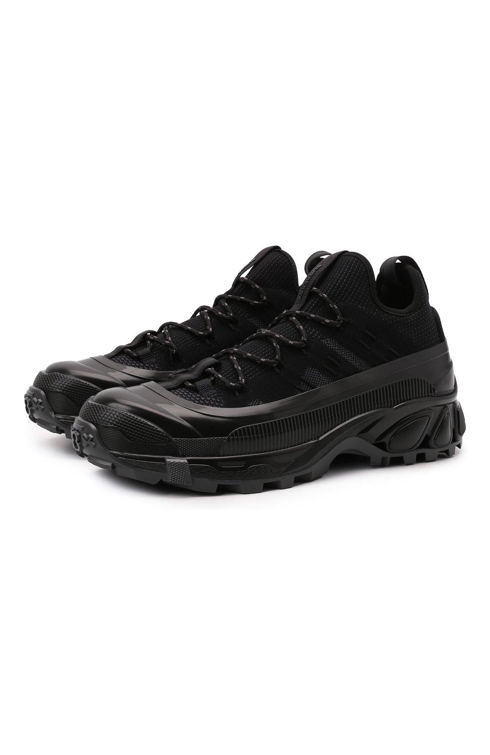 Мужские комбинированные кроссовки arthur BURBERRY черного цвета, арт. 8042579   Фото 1 (Материал внешний: Текстиль; Материал внутренний: Натуральная кожа, Текстиль; Стили: Гранж; Подошва: Массивная)