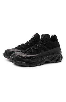 Мужские комбинированные кроссовки arthur BURBERRY черного цвета, арт. 8042579 | Фото 1