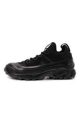 Мужские комбинированные кроссовки arthur BURBERRY черного цвета, арт. 8042579   Фото 3 (Материал внешний: Текстиль; Материал внутренний: Натуральная кожа, Текстиль; Стили: Гранж; Подошва: Массивная)