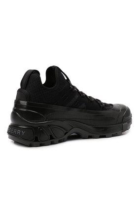 Мужские комбинированные кроссовки arthur BURBERRY черного цвета, арт. 8042579   Фото 4 (Материал внешний: Текстиль; Материал внутренний: Натуральная кожа, Текстиль; Стили: Гранж; Подошва: Массивная)