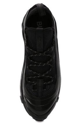Мужские комбинированные кроссовки arthur BURBERRY черного цвета, арт. 8042579   Фото 5 (Материал внешний: Текстиль; Материал внутренний: Натуральная кожа, Текстиль; Стили: Гранж; Подошва: Массивная)