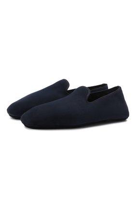 Мужского кожаные домашние туфли H`D`S`N BARACCO темно-синего цвета, арт. SUITE.M.1* | Фото 1