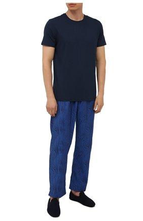 Мужского кожаные домашние туфли H`D`S`N BARACCO темно-синего цвета, арт. SUITE.M.1* | Фото 2