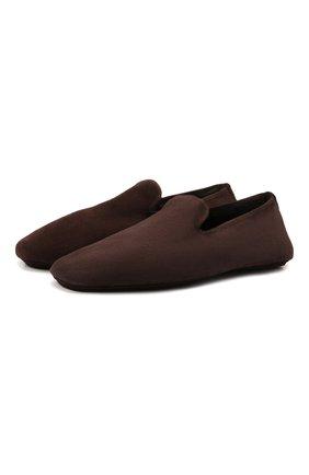 Мужского кожаные домашние туфли H`D`S`N BARACCO темно-коричневого цвета, арт. SUITE.M.2* | Фото 1