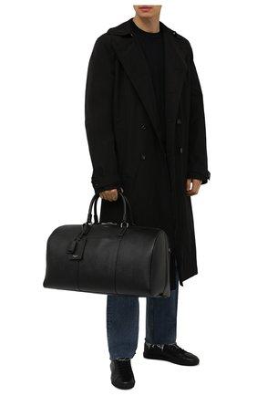 Мужская кожаная дорожная сумка evoluzione SERAPIAN черного цвета, арт. SREVLMTR280650F | Фото 2