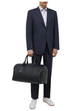 Мужская кожаная дорожная сумка evoluzione SERAPIAN темно-синего цвета, арт. SREVLMTR280650F | Фото 2