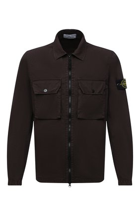 Мужская хлопковая куртка STONE ISLAND коричневого цвета, арт. 7515113WN | Фото 1