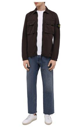 Мужская хлопковая куртка STONE ISLAND коричневого цвета, арт. 7515113WN | Фото 2