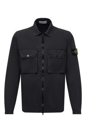 Мужская хлопковая куртка STONE ISLAND темно-серого цвета, арт. 7515113WN | Фото 1