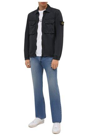 Мужская хлопковая куртка STONE ISLAND темно-серого цвета, арт. 7515113WN | Фото 2