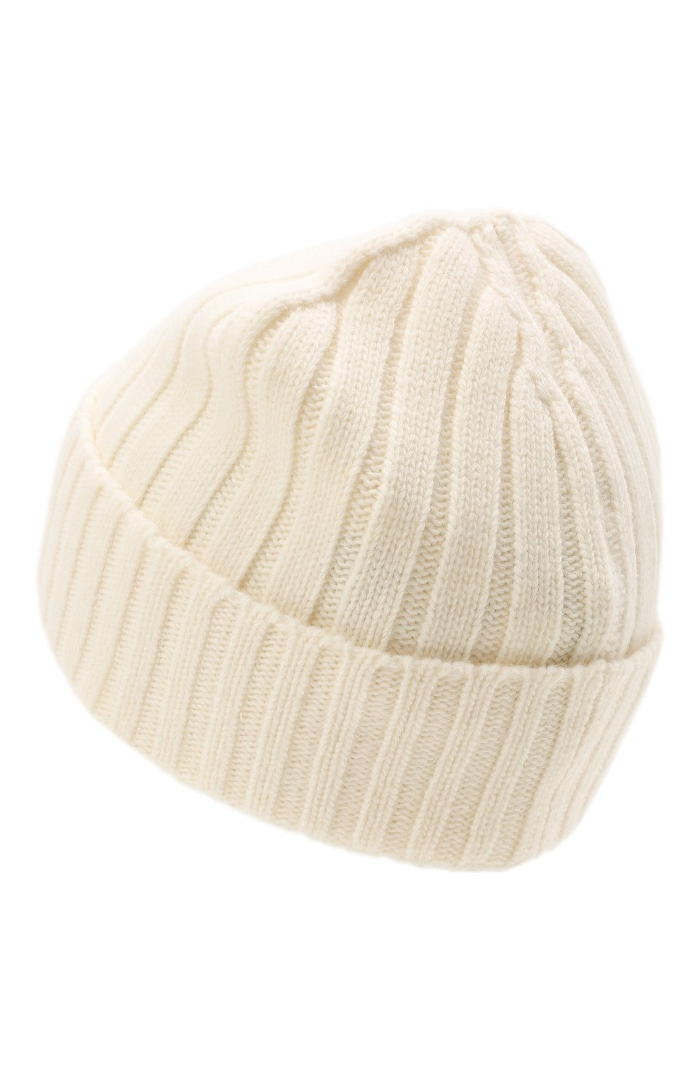 Мужская шерстяная шапка STONE ISLAND белого цвета, арт. 7515N24B5   Фото 2 (Материал: Шерсть; Кросс-КТ: Трикотаж)