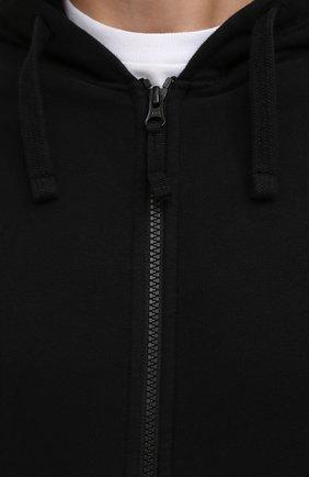 Мужской хлопковая толстовка STONE ISLAND черного цвета, арт. 751564220 | Фото 5 (Рукава: Длинные; Мужское Кросс-КТ: Толстовка-одежда; Длина (для топов): Стандартные; Стили: Гранж; Материал внешний: Хлопок)