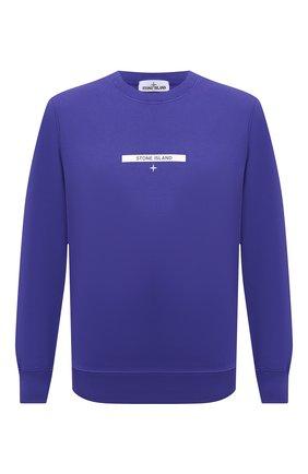 Мужской хлопковый свитшот STONE ISLAND фиолетового цвета, арт. 751563085 | Фото 1