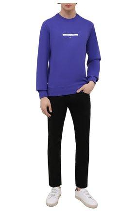 Мужской хлопковый свитшот STONE ISLAND фиолетового цвета, арт. 751563085 | Фото 2