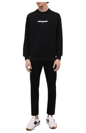 Мужской хлопковый свитшот STONE ISLAND черного цвета, арт. 751563085 | Фото 2
