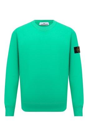 Мужской хлопковый свитшот STONE ISLAND зеленого цвета, арт. 751563020 | Фото 1
