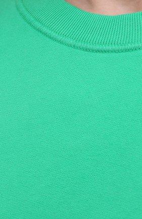 Мужской хлопковый свитшот STONE ISLAND зеленого цвета, арт. 751563020   Фото 5 (Рукава: Длинные; Принт: Без принта; Длина (для топов): Стандартные; Стили: Гранж; Мужское Кросс-КТ: свитшот-одежда; Материал внешний: Хлопок)