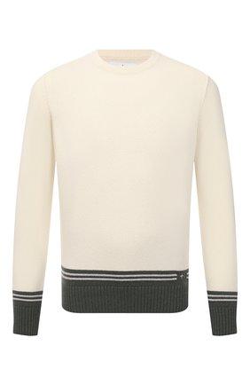Мужской шерстяной свитер STONE ISLAND кремвого цвета, арт. 7515573B8 | Фото 1