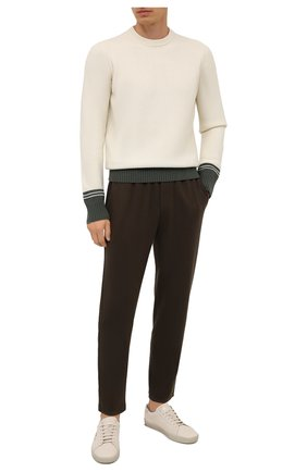 Мужской шерстяной свитер STONE ISLAND кремвого цвета, арт. 7515573B8 | Фото 2