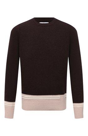 Мужской шерстяной свитер STONE ISLAND темно-коричневого цвета, арт. 7515573B8 | Фото 1