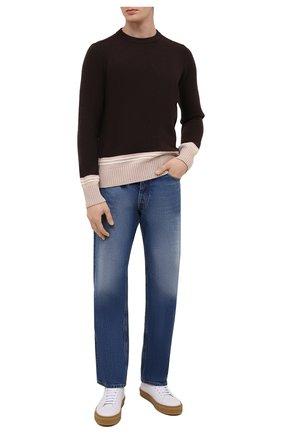 Мужской шерстяной свитер STONE ISLAND темно-коричневого цвета, арт. 7515573B8 | Фото 2