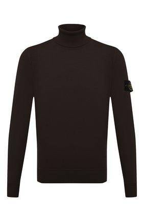 Мужской шерстяная водолазка STONE ISLAND темно-коричневого цвета, арт. 7515527C4 | Фото 1