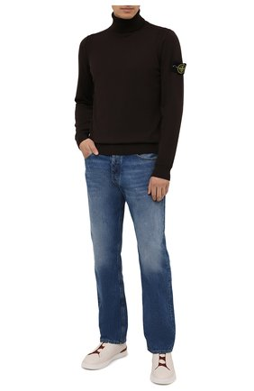 Мужской шерстяная водолазка STONE ISLAND темно-коричневого цвета, арт. 7515527C4 | Фото 2