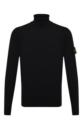 Мужской шерстяная водолазка STONE ISLAND черного цвета, арт. 7515527C4 | Фото 1