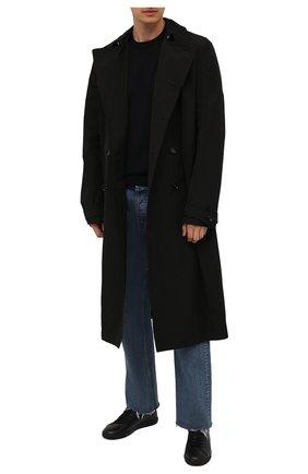 Мужской шерстяной джемпер STONE ISLAND темно-синего цвета, арт. 7515526C4 | Фото 2