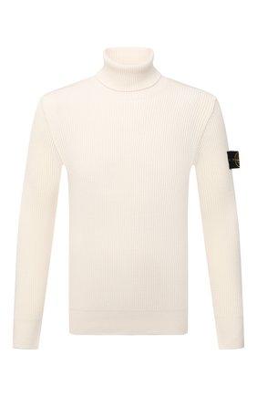 Мужской шерстяной свитер STONE ISLAND кремвого цвета, арт. 7515525C2 | Фото 1