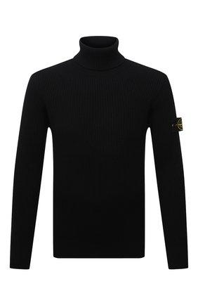 Мужской шерстяной свитер STONE ISLAND темно-синего цвета, арт. 7515525C2 | Фото 1