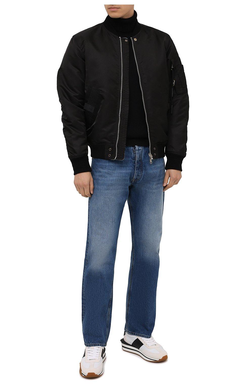 Мужской шерстяной свитер STONE ISLAND темно-синего цвета, арт. 7515525C2 | Фото 2 (Материал внешний: Шерсть; Рукава: Длинные; Принт: Без принта; Длина (для топов): Стандартные; Мужское Кросс-КТ: Свитер-одежда; Стили: Кэжуэл)