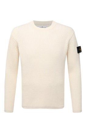 Мужской шерстяной свитер STONE ISLAND кремвого цвета, арт. 7515517C2 | Фото 1