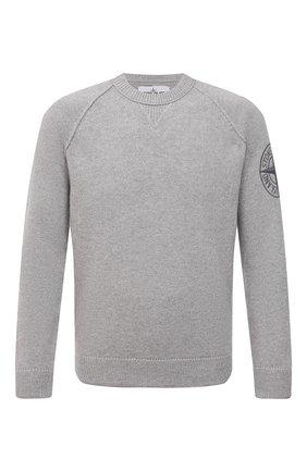 Мужской шерстяной свитер STONE ISLAND светло-серого цвета, арт. 7515514B7 | Фото 1
