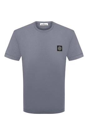 Мужская хлопковая футболка STONE ISLAND серого цвета, арт. 751524113 | Фото 1