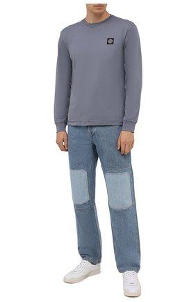Мужская хлопковый лонгслив STONE ISLAND серого цвета, арт. 751522713 | Фото 2