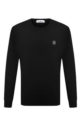 Мужская хлопковый лонгслив STONE ISLAND черного цвета, арт. 751522713 | Фото 1