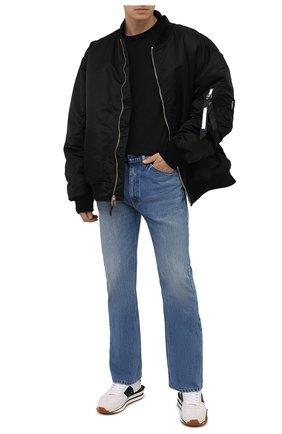 Мужская хлопковый лонгслив STONE ISLAND черного цвета, арт. 751522713 | Фото 2