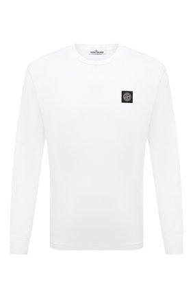 Мужская хлопковый лонгслив STONE ISLAND белого цвета, арт. 751522713 | Фото 1